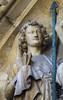 Angel holding the nails of Christ's Crucifixion (ca. 1230-1240). Paris cathedral Notre-Dame, west facade, central portal, detail of the tympanum of the Last Judgment. (markusschlicht) Tags: paris cathedral notredame kathedrale cathédrale tympan tympanum tympan13thcentury 13jahrhundert gothique gothic gotico gotisch gotik statue skulptur sculpture escultura medieval médiéval mittelalter