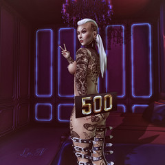 Thanks for 500 Follows♥♥ (♣♦ Lilly von Nekro ♦♣) Tags: art dark babes tattoo beauty sl sexy second secondlife 3d life illustration girls people piercing firestorm