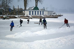 Hockey on the lagoon (hogtown_blues) Tags: toronto ontario canada torontoislandpark torontoisland torontoislands wardsisland hockey shinny ice snow winter 20178 cans2s