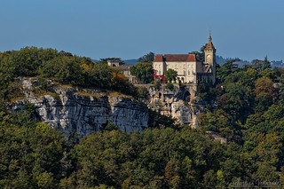 The castle of the medieval city of Rocamadour - Le château de la cité médiévale de Rocamadour