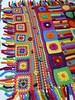 Detail of a groovyghan (crochetbug13) Tags: crochetbug crochetblanket crochetafghan groovyghan rainbow grannysquares crochetsquares