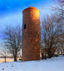 Old Brick Silo in Winter (Dave Linscheid) Tags: bricksilo silo winter snow cold rural farm agriculture bluesky tree texture textured butterfield watonwancounty mn minnesota usa country agricuture architecture smartphotoeditor
