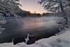 Serenity. (laurilehtophotography) Tags: 2018 kapeenkoski laukaa talvi suomi finland river stream flow nature winter snow ice water landscape morning cold freezing trees forest outdoor amazing europe nikon d610 samyang 14mm longexposure exposureblend sunrise