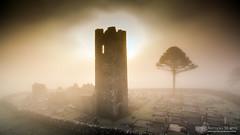 Hill of Slane bell tower (mythicalireland) Tags: hill slane saint st patrick meath ireland tower bell church ruin ecclesiastical graveyard cemetery aerial drone dji phantom 3 advanced