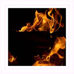 """La Danse . . .enflammée  CoF 012 """"Macro Movement"""" (nickylechatreux) Tags: flamme flame jaune bûche chaleur interior hiver cof012 movement"""