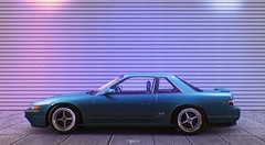 Working together with Aidar Ishmuhametov (jameslonely) Tags: game car photo screenshot art forza horizon 3 motorsport 7 nissan silvia blue retro retrowave newretrowave night evening light lights pink photoshop lightroom cc cs raw lonely dark blur old japan vhs midnight darkness