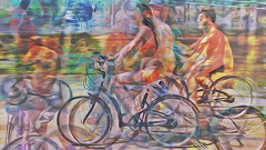 Bildschichten Rad Nudisten 32c (wos---art) Tags: bildschichten rad räder bycicle radfahrer unfall schrott radwandern gruppe