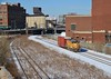 Grand Avenue Yard (BravoDelta1999) Tags: unionpacific up railroad chicagoandnorthwestern cnw railway lowline harvardsubdivision grandavenue eriestreet yard chicago illinois tribune warehouse freedomcenter emd gp151 upy 712 yno68 manifest train