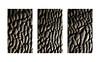 Dark Furrows Triptych (Ger208k) Tags: ireland dublin dollymount northbullisland beach shoreline sand ridges furrows contrast abstract triptych samsunggalaxy6 android minimalist gerardmcgrath