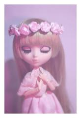 Pink Light (Dragonella~) Tags: pullip obitsu doll zoe victorique de blois victoriquedeblois pullipobitsu pullipvictorique pullipvictoriquedeblois pink artificial light flash flowers wreath flower crown nikon d5100 dragonella pullipdoll groove