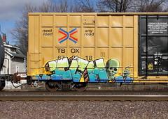 Ich (quiet-silence) Tags: graffiti graff freight fr8 train railroad railcar art ich ichabod yme circlet ttx tbox boxcar tbox672218