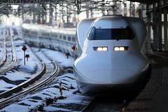 Shinkansen  ---Super Express 700 Series--- (Teruhide Tomori) Tags: 新幹線 米原駅 jr東海 日本 高速鉄道 電車 列車 japan japon railway railroad train superexpress shinkansen bullettrain maibara japanrailway 700系 700series 鉄道 のぞみ