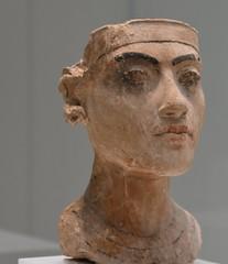 Bust of Tutankhamun from Amarna, 18th dynasty; ca. 1335 BCE; Pergamon Museum, Berlin  (2) (Prof. Mortel) Tags: germany berlin neuesmuseum tutankhamun amarna