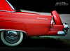Red Bird (Hi-Fi Fotos) Tags: red ford thunderbird tbird continental spare tire kit style vintage american cruiser chrome badge detail nikon d5000 antique hififotos hallewell