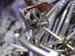 Schrotti, the iron man (BeMo52) Tags: screws nuts schrauben muttern iron eisen macromondays macro makro nahaufnahme figur sculpture fasteners