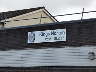 King Norton Police Station - Wharf Road, Kings Norton - sign