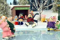 Sylvanian Families - Ice Skating story (Sylvanako) Tags: figureskating figure skating toy toys sylvanian winter fun diorama