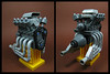 The Underhead Valve Clunker V8 (Karf Oohlu) Tags: lego moc engine v8engine v8 unconventionalengine