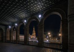 Serie Privilegios de Sevilla... (protsalke) Tags: privilegios sevilla plazadeespaña privileges nighscape architecture archs colors andalucia nikon urban city lights luces spain cityscape night longexposure arquitectura anibalgonzalez