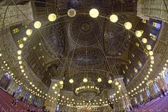 The cupola of the mosque from the interior (T Ξ Ξ J Ξ) Tags: egypt cairo fujifilm xt2 teeje samyang8mmf28 citadel old town salahaldin medieval mokattam muhammadali unesco