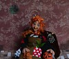 Elsbeth the witch (Valentina Bruschi) Tags: lady old halloween pumpkin dot sofa cat ginger witch ooak doll handmade polymer clay