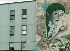 Soul Garden on side of Astoria Hotel (annapolis_rose) Tags: vancouver dtes downtowneastside hastingsstreet astoriahotel mural soulgarden streetart