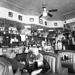 Small Town North Carolina (Black and White) (Adam's Journey) Tags: 2018 graham northcarolina alamancecounty family restaurants blackandwhite favorites 5favorites