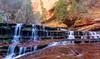 Archangel Falls (CloudRipR) Tags: zionnationalpark water waterfall nikon nikkor d810 pinnaclephotography rockpaper archangelfalls saariysqualitypictures