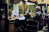 Coiffeur waiting (lanevegianluca) Tags: film filmisnotdead human analog pellicola analogica italia torino portrait ersona people 50mm18 50mm fujifilm fuji xtra400 400 xtra