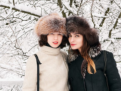 Shapkas! (Serge Zap) Tags: winter fun young beautiful female forest snow white happy cold lifestyle cute woman frozen joy frost happiness fresh natural emotion cozy exciting freshness lady portrait friendship mft m43 panasonic lumix hx025 leica 25mm f14 gh5