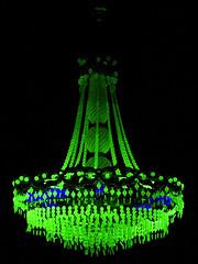 Uranium Glass (Lapsus) Tags: malmo art chandeliers exhibition glass glow green radiation sweden uraniumglass
