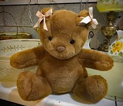 Pink Bow Bear (BKHagar *Kim*) Tags: bkhagar teddy bear teddybear toy animal pink bow bows fuzzy htbt