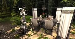 Corina Dining Set (MadsPhotoFreak) Tags: fameshed cosmopolitan corina dining set br bellarose heart garden second life sl home decor