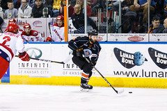 "Kansas City Mavericks vs. Allen Americans, February 24, 2018, Silverstein Eye Centers Arena, Independence, Missouri.  Photo: © John Howe / Howe Creative Photography, all rights reserved 2018 • <a style=""font-size:0.8em;"" href=""http://www.flickr.com/photos/134016632@N02/39790822644/"" target=""_blank"">View on Flickr</a>"