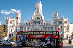Madrid Tour (Stauromel) Tags: madrid turismo tour citytour cibeles palaciodecomunicaciones skyline street stauromel alquimiadigital arquitectura cloud nubes fuji fujixt2