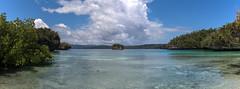 Wonderful bay with many mushroom islands (pleymalex) Tags: raja ampat papua new ginea kayak beser bay village mushroom islands blue water clean peaceful quiet paradise