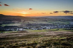 The Welsh Valleys at Sunset