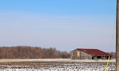 A Cold January Morning (Haytham M.) Tags: rust barn shed canada ontario day january cold snow rural countryside