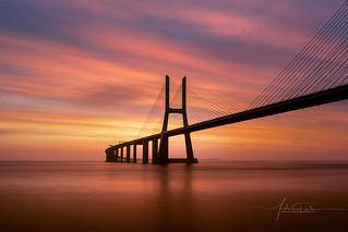 Vasco da Gama Bridge Lisbon Portugal