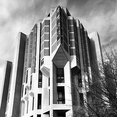 Robarts Library, University of Toronto (gt223) Tags: architecture blackandwhite bw library robarts university toronto city urban brutalist brutalism concrete