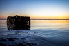 sunrise crab trap (primemundo) Tags: sunrise crabtrap barnegatbay bay water silhouette ripple horizon tide crabbing