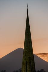 Religions (mickreynolds) Tags: feb2018 nx500 croaghpatrick westport catholic protestant sunset church spiral steeple 2018