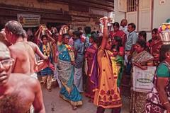 Thai poosam festival / palani / tamilnadu / india. (Rajavelu1) Tags: pallkavadi thaipoosamfestival festival murugan palani tamilnadu india culture tradition people ladies colours candidstreetphotography colourstreetphotography streetscenes