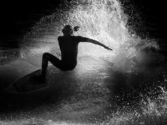 Night Surfer (samsantana1) Tags: surf waves surfer sea chile reñaca olas oceano playa contrast blackandwhite bnw bw monochrome monochromatic