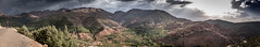Atlas Mountains. Hi-Res Panoramic. (icarium82) Tags: sonydscrx1rm2 berge dusk landscape landschaftterrain mountains nature panorama panoramic sonnenuntergang sunset travel abenddämmerung morocco north africa atlasmountains cultivated africalandscape
