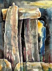 Stonehenge (tina negus) Tags: painting art stonehenge archaeology megaliths