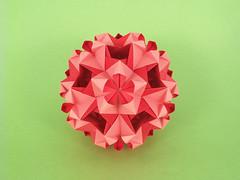 Paragon (masha_losk) Tags: kusudama кусудама origamiwork origamiart foliage origami paper paperfolding modularorigami unitorigami модульноеоригами оригами бумага folded symmetry design handmade art