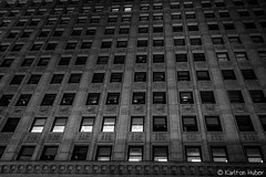 Repetition (www.karltonhuberphotography.com) Tags: 2017 architecturaldetails architecture blackandwhite chicago downtown illinois illumination karltonhuber light lines lookingup nightphotography oldbuilding pattern shadows streetphotography urban windows
