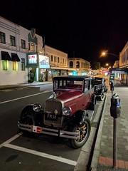 Art Deco by Night (Kevin Fenaughty) Tags: outdoor building hotel masonic artdeco street car night napier newzealand