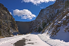 Extreme HDR (Chuckcars) Tags: colorado fujifilm xpro2 street snow winter montrose usa black canyon gunnison national park morrow point dam sky clouds